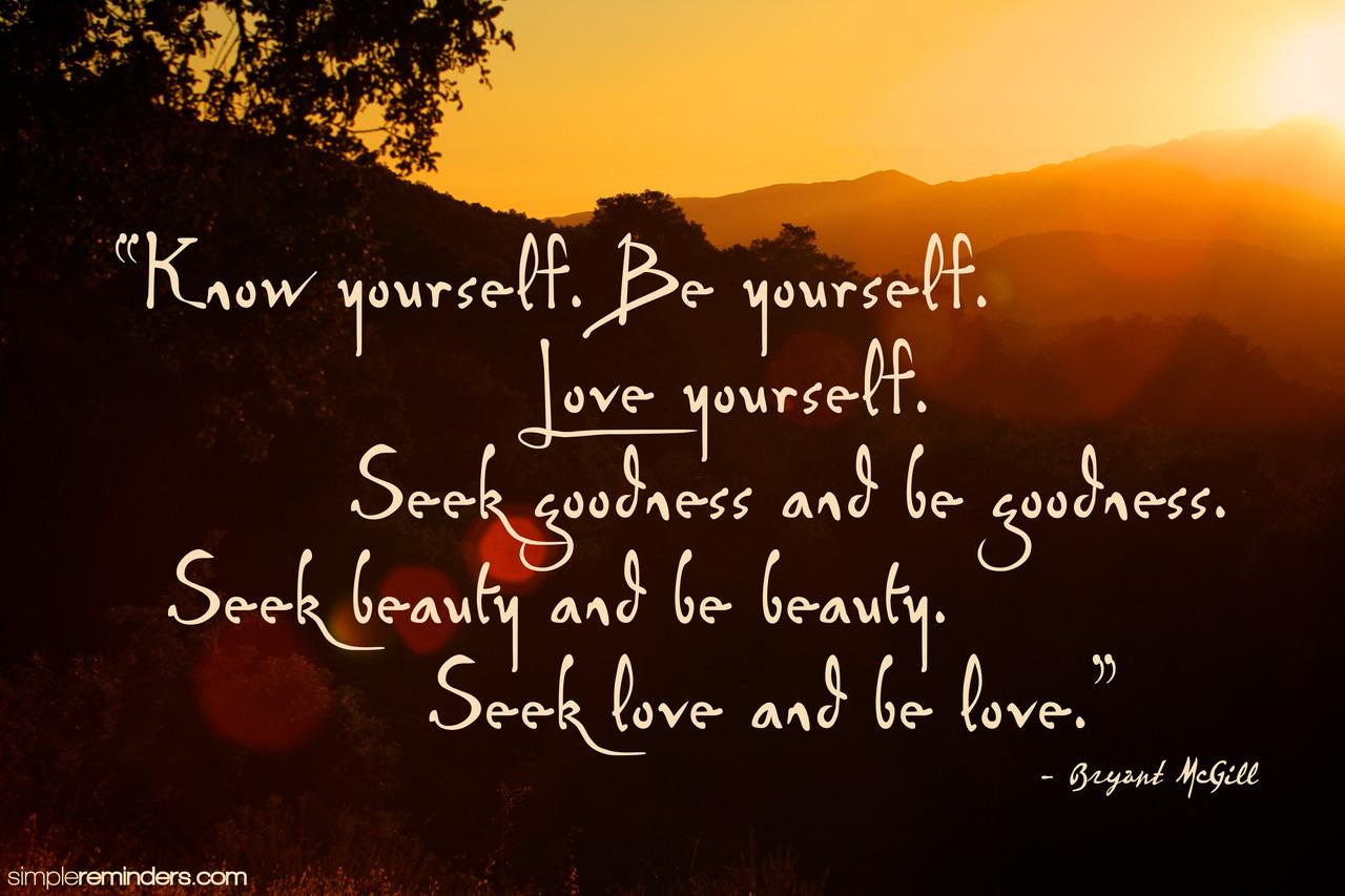 seek love be love bryant mcgill