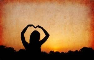 sunset arm heart